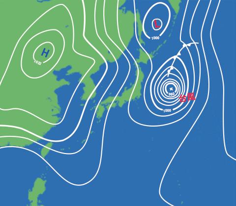 1989年10月8日の天気図