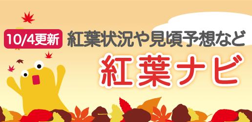 紅葉ナビ(10/4更新)