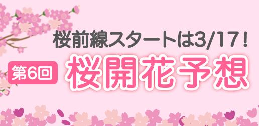 第4回 桜開花・満開予想